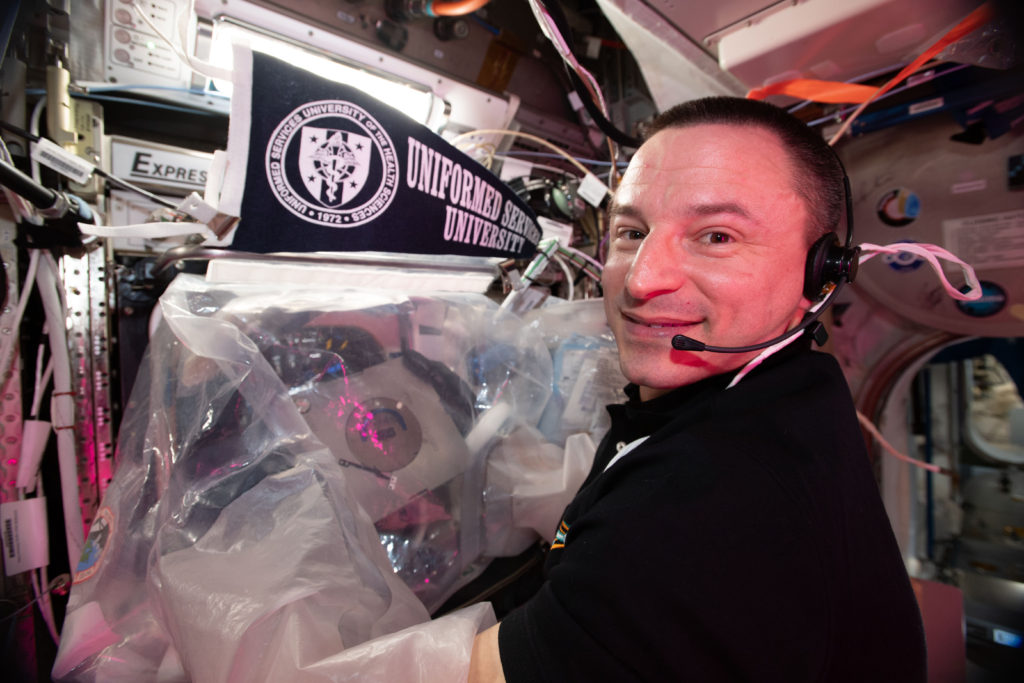 Astronaut Andrew Morgan onboard the International Space Station